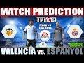 Valencia vs. Espanyol Match Prediction Fecha #3 La Liga - FIFA 14