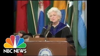Barbara Bush Delivers Wellesley College Commencement Speech | NBC News - NBCNEWS