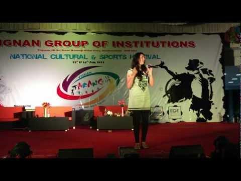 Geetha Madhuri's DARLINGEY song awesome performance in vignan's TARANG