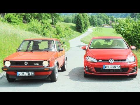 Vergleichstest: Golf1 GTD gegen Golf7 GTD