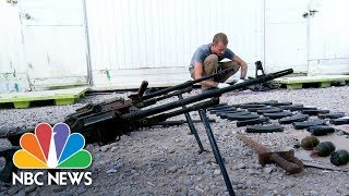 Battlefield Researchers Uncover ISIS Arsenal And Weapons Factory In Iraq | NBC News - NBCNEWS