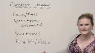 Classroom vocabulary and expressions, Speaking English Video Lessons, engvid