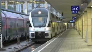 [a photo of the video] for Train arriving and departing Wien Austria West Bahanhof Aug 26, 2012
