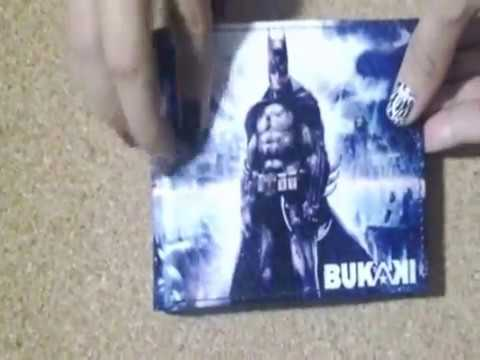 BILLETERA BUKAKI DE BATMAN. 100% CUERO.