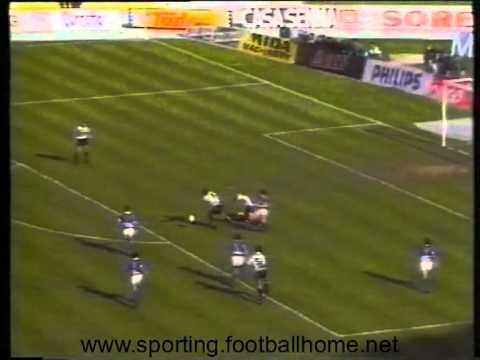 28J :: Sporting - 3 x Feirense - 2 de 1989/1990