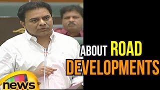 KTR Speaks About Road Development In The Assembly | Mango News - MANGONEWS