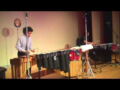 "Percussion Scholarship Group Duo Perform ""Udacrep Akubrad"""