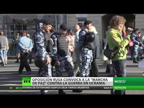 """Oposición rusa convoca """"la marcha de la paz"""" en Moscú"""