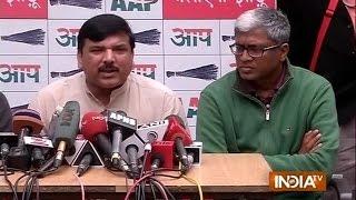 AAP leader Sanjay Singh addresses PC, says he always follow party decorum - INDIATV