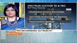 Countdown: DoT Rejects TRAI's Recommendations - BLOOMBERGUTV
