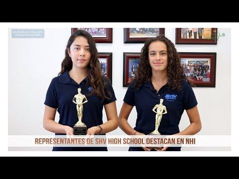 Representantes de SHV High School destacan en NHI
