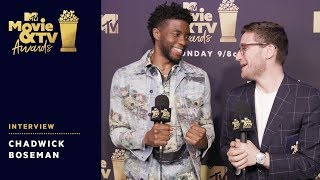 Chadwick Boseman Reacts to Award Wins & Tiffany Haddish's Monologue | 2018 MTV Movie & TV Awards - MTV