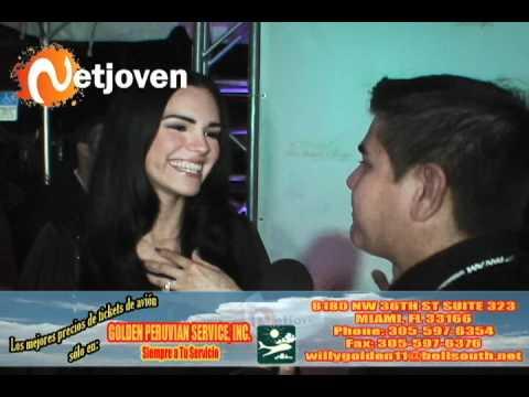Scarlet Ortiz, actriz venezolana, manda saludos a Netjoven
