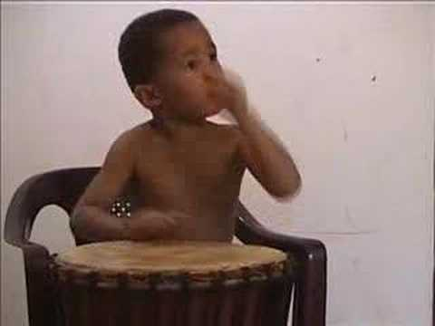 4 Year Old Djembe Drummer