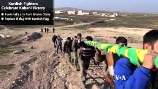 Kurdish Fighters Celebrate Kobani Victory - VOAVIDEO