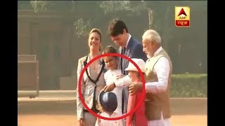 You will fall in love with Justin Trudeau's youngest son because of his masti with PM Modi - ABPNEWSTV