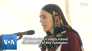 New Zealand PM Ardern Wears Hijab,  Says Humbled by Support at Mosque - VOAVIDEO