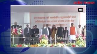 video : त्रिवेन्द्र सिंह रावत ने उत्तराखंड सीएम पद की शपथ ली