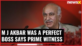 MJ Akbar was a perfect boss, says prime witness Joyeeta Basu - NEWSXLIVE