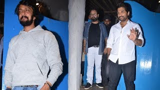 Allu Arjun, Kiccha Sudeepa & Many Celebs Arrive At Nikhil Advani's Party | Allu Arjun At Mumbai - RAJSHRITELUGU