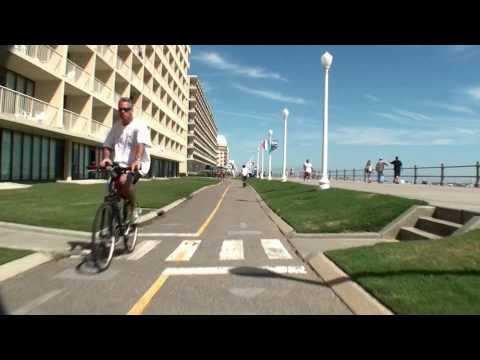 Va. Beach Virtual Bicycle Tour - Boardwalk from 1st to 25th Street - VaBeach.com