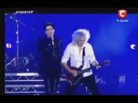 Somebody To Love - Adam Lambert QUEEN Kiev Ukraine  6/30/12