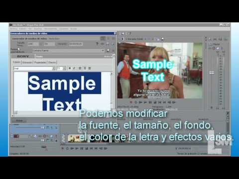 Tutorial Sony Vegas - Insertar texto en un video