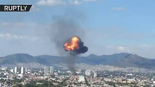 Huge fireball as Mexico City liquor factory explodes - RUSSIATODAY