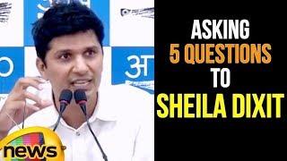Aap Spokesperson Saurabh Bhardwaj Briefs Media Asking 5 Questions To Sheila Dixit | Mango News - MANGONEWS