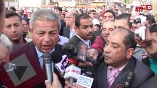 وزير الشباب ينفي استهداف موكب محلب