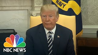 President Doanld Trump To Reporter Asking About Potential Cohen Pardon: 'Stupid Question' | NBC News - NBCNEWS