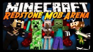 Minecraft: Redstone Mob Arena - Insane 9000 Infinity! - Pt. 1 w/ CavemanFilms!