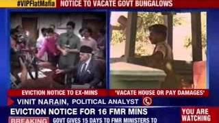 Eviction notices for 16 former ministers - NEWSXLIVE