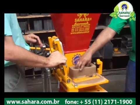 Máquinas de Tijolos ecológicos solo-cimento modelo compacta 10 x 20 cm