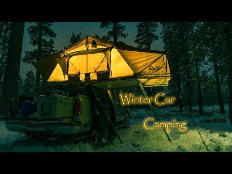 CVT Mt Shasta Winter Car Camping
