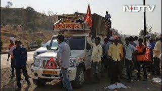 किसानों को पुलिस ने बीच में रोका - NDTVINDIA