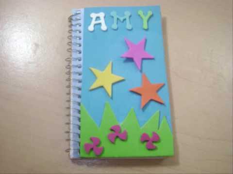 Como forrar cuadernos con tela - Imagui