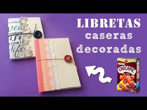 Libretas decoradas caseras: Manualidades de reciclaje de cartón