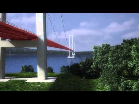 Maqueta virtual del puente sobre el Canal de Chacao