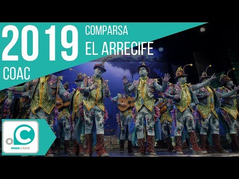 La agrupación El arrecife llega al COAC 2019 en la modalidad de Comparsas. En años anteriores (2018) concursaron en el Teatro Falla como Los Encantadores, consiguiendo una clasificación en el concurso de Preliminares.