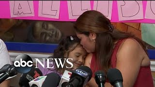 6-year-old girl heard crying on viral tape reunited with mother - ABCNEWS