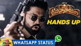 Hands Up Song WhatsApp Status | Athade Srimannarayana Movie | Rakshit Shetty | Shanvi | Mango Music - MANGOMUSIC