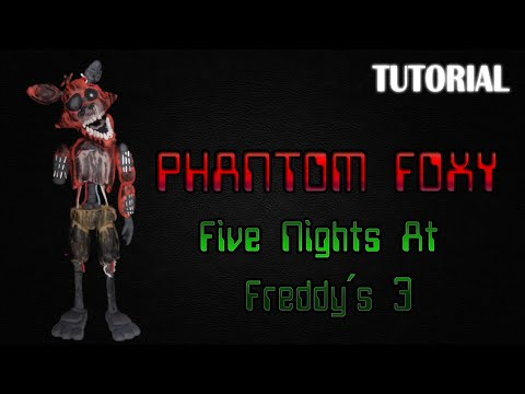 Tutorial Phantom Foxy en Plastilina | FNaF 3 | Phantom Foxy Clay Tutorial