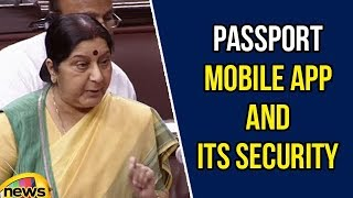 Sushma Swaraj Speaks about Passport Mobile APP and Its Security | Lok Sabha Sessions 2018|Mango News - MANGONEWS
