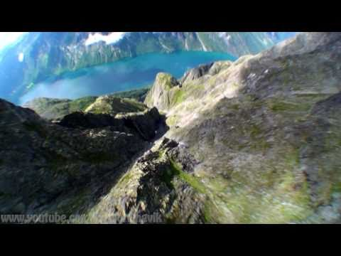 Wingsuit proximity flying in Norway 2010 by Halvor Angvik