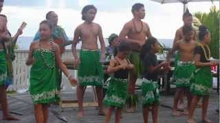 The youth of Niue came to the Matavai Resort to sing and dance. Here they are warming up, looking a bit bored! :) - Courtesy of OceanIslandTravel.com