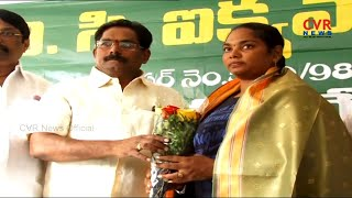 BC Aikya Vedika Honored World Weightlifting Silver Medalist Anusha At Krishna District l CVR NEWS - CVRNEWSOFFICIAL