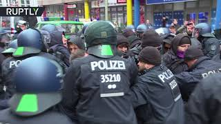 Scuffles break out as protesters disrupt AfD's 'Women's March' in Berlin - RUSSIATODAY