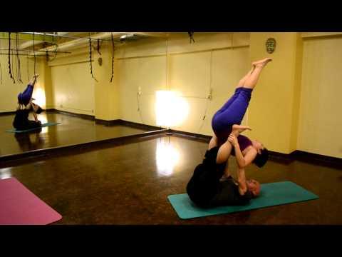 yogaFLIGHT: Kat springing into 'Candlestick' pose