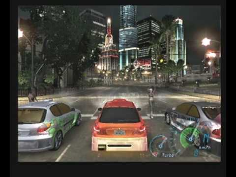 Need For Speed Underground Gameplay Playstation 2 PS2 ( Peugeot 206 Tuning )